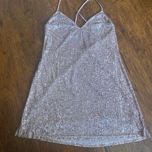 Victoria's Secret sequin slip dress
